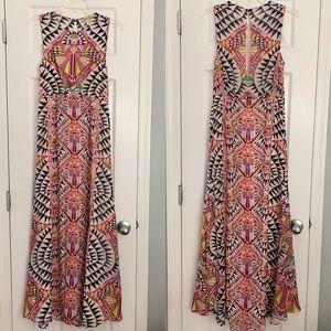 Mara Hoffman black triangle bright maxi dress